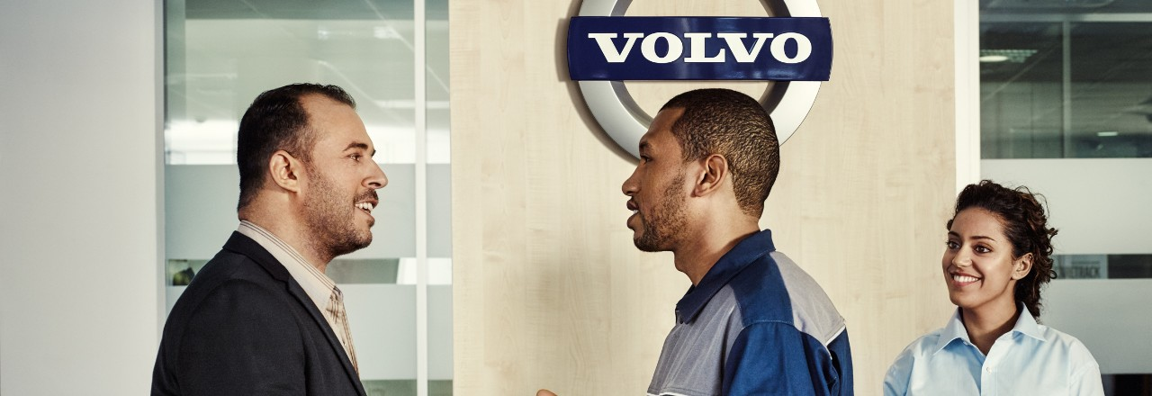 Volvo trucks services servicing contracts three people
